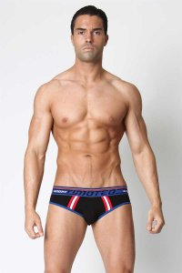 Timoteo Racer Brief Underwear Black