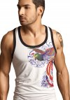 Clever Phoenix Tank Top T Shirt White 7009
