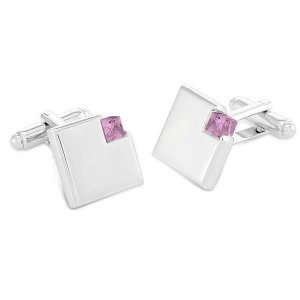 Duncan Walton Wyre Cufflinks Light Rose C2715
