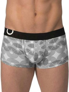 Rounderbum Lift Geometric Trunk Underwear Black JC03N213