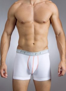 Baskit Action Cool Cotton Mesh Boxer Brief White Underwear M4500