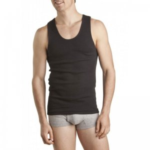 [6 Pack] Bonds Chesty Tank Top T Shirt Black M757