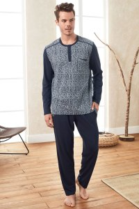 Doreanse Maze Henley Long Sleeved T Shirt & Pants Set Lounge...