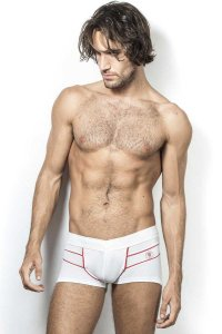L'Homme Invisible RLA Bodyscapes V Boxer Brief Underwear White MY19W-RLA-002