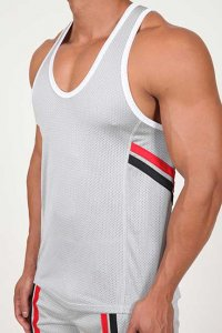 Pistol Pete Fighter Tank Top T Shirt Silver TK112-926