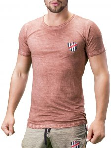 Barcode Berlin Alvin Short Sleeved T Shirt Rust 91199-1705