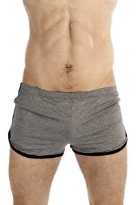 L'Homme Invisible Freedom Lounge Shorts Grey/Black HW129-LOU...