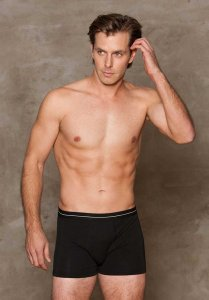 iCollection Modal Boxer Brief Underwear Black 8803