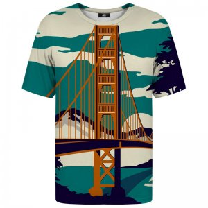 Mr. Gugu & Miss Go Golden Bridge Unisex Short Sleeved T Shirt TSH666