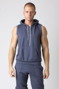 Timoteo Jet Set Hoodie Sleeveless Sweater Blue 7228