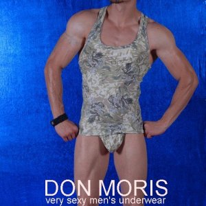 Don Moris Camouflage Tank Top T Shirt DM080833