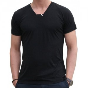 Blunt Neck Inv-Luxe Short Sleeved T Shirt Black I-M-SS-BL
