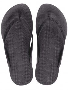 Boombuz Taiga Basic Naked Flip Flop Slippers Black