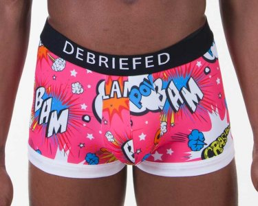 Debriefed Cartoon BLAM Hipster Boxer Brief Underwear Pink