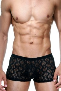 LaBlinque Lace Boxer Brief Underwear Black LB-15262