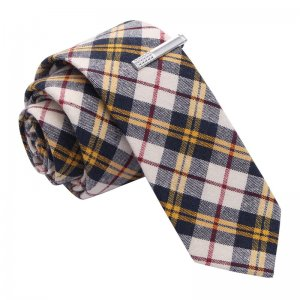 Skinny Tie Madness David Coppertone Plaid Skinny Tie & Tie C...