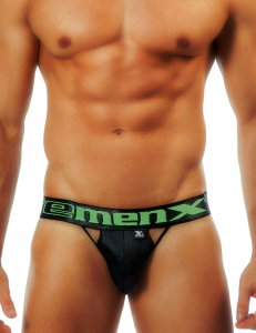 Xtremen Contrast Trim Vents Brief Underwear Black 91006