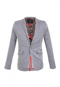 Spy Henry Lau Slim Cut Tailor Jacket Grey SP788AA81NXAHK