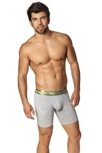 Xtremen Printed Sport Boxer Brief Underwear Grey 51324