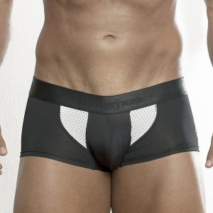 Intymen Side Vent Boxer Brief Underwear Black/White 5616