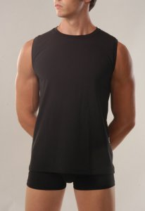 Geronimo Sleeveless Muscle Top T Shirt Black 254