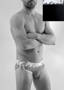 Geronimo Slip Brief Underwear Black/White 1666S2-2