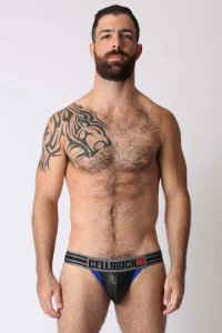 CellBlock 13 Liquid Skin Jock Strap Underwear Blue CBU059