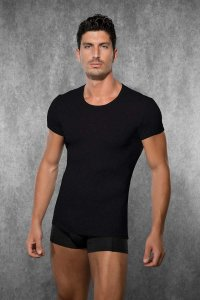 Doreanse Solid Short Sleeved T Shirt Black 2545