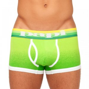 Papi Dusk to Dawn Brazilian Trunk Boxer Brief Underwear Green 980593