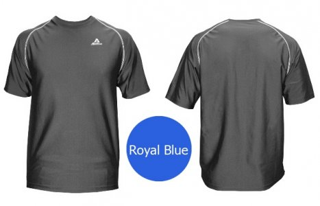 Akadema Performance Tee Short Sleeved T Shirt Royal Blue SPWRT