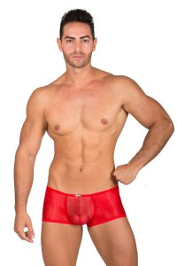 Eros Veneziani Spider Tulle Push Up Boxer Brief Underwear Red 7301
