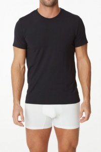 Parker & Max Micro Luxe Crew Neck Short Sleeved T Shirt Black PMFP-TCN1
