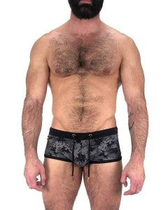 Nasty Pig Camo Square Cut Trunk Swimwear Black 6094
