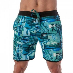 Lord Tropical Collage Boardshorts Beachwear Blue MA006