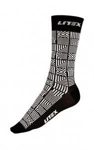 Litex Designer Patterned Socks Black/White 99665