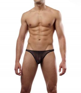 Cover Male Thong Underwear Sheer Black 103