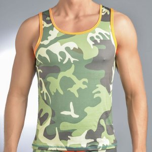 Gigo CAMOUFLAGED Tank Top T Shirt