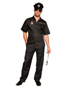 Elegant Moments 9674 Hot Patrol 4 pc Men's Costume
