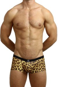 L'Homme Invisible Push Up Hipster Boxer Brief Underwear Leopard MY39-LEO