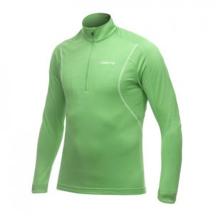 Craft Performance Lightweight Stretch Pullover Long Sleeved Sweater Green/Dark Navy 1900927