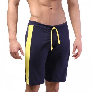 MIIW Trainer Side Stripe Shorts Navy/Yellow 4713-28