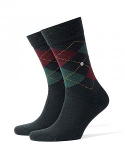 Burlington Edinburgh Socks Navy 21182