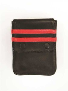Mister B Harness Leather Wallet Black/Red 601314