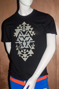 Sauvage Tribal Short Sleeved T Shirt Black