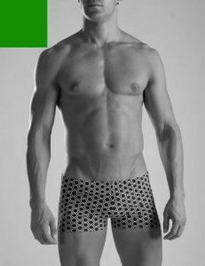 Geronimo Square Cut Trunk Swimwear Green 1016b1