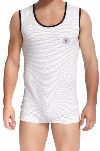 L'Homme Invisible Saint Malo Printed Bodysuit White HW147-MA...