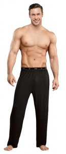 Male Power Bamboo Lounge Pants Black 188-171 USA1