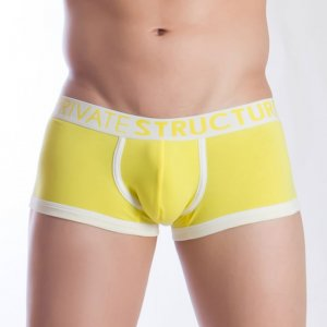 Private Structure Spectrum Contour Trunk Boxer Brief Underwear Yellow 99-MU-1370