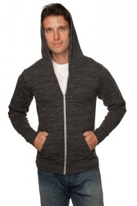 Royal Apparel Unisex Eco Tri Jersey Full Zip Hoody Long Sleeved Sweater Eco Tri Charcoal 32550