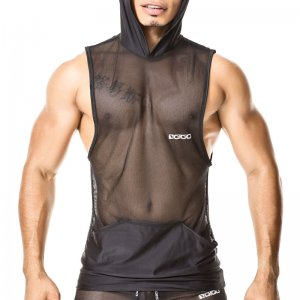 Gigo LIGHT BLACK Hoody Muscle Top T Shirt O27179